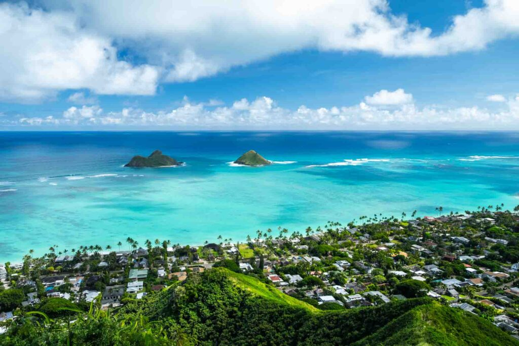 Taking in the views of Mokulua islands is one of things to do in Oahu in 3 days