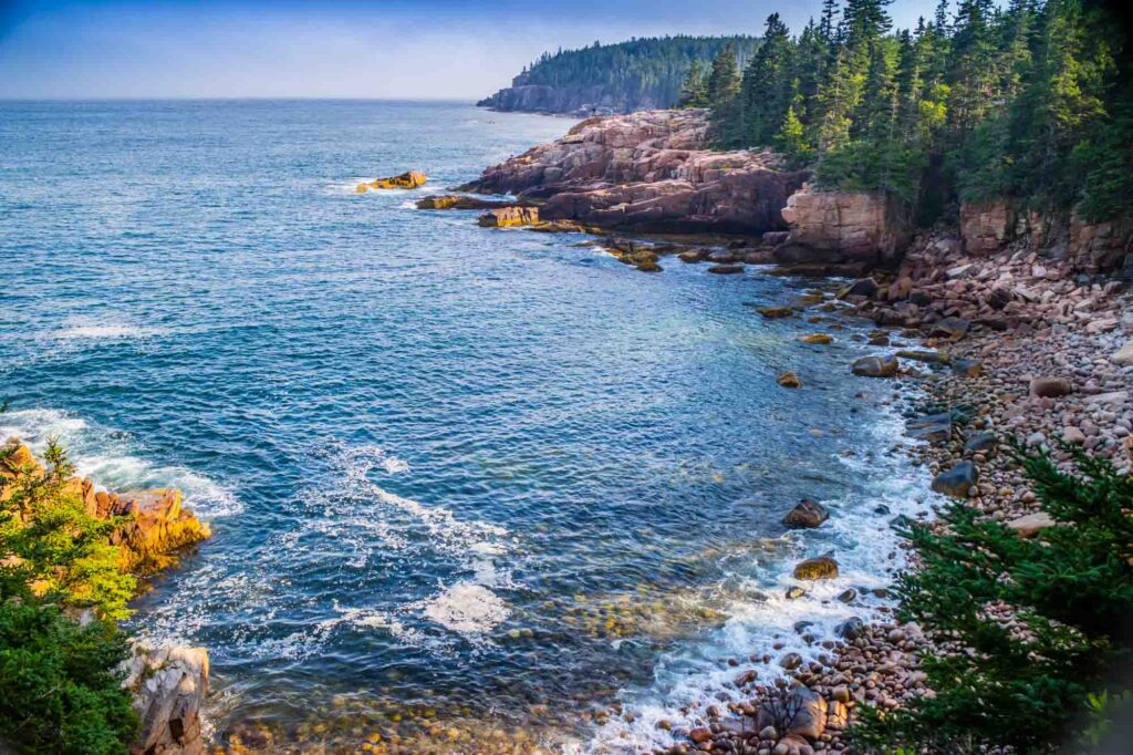 Ocean Path Trail is one of the best hikes in Acadia National Park