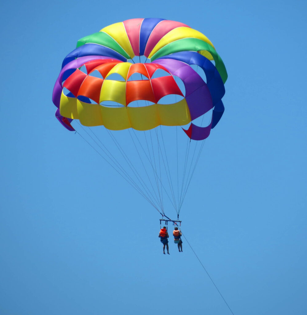 Parasailing is one of the thrilling things to do on South Padre Island, TX
