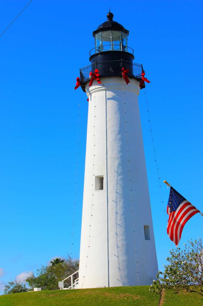 Taking in panoramic views at Port Isabel Lighthouse is one of the best things to do on South Padre Island, TX