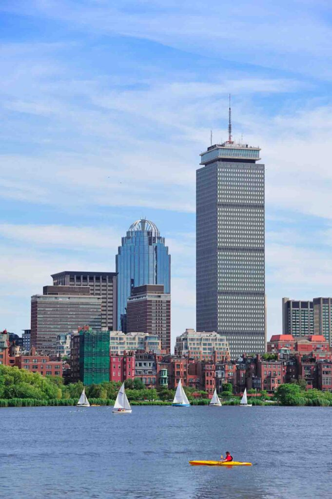 Dining at the top of the Hub is one of the romantic things to do in Boston