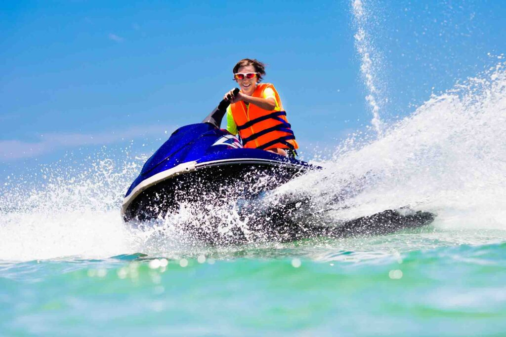 Jet skiing is one of the fun things to do on South Padre Island, TX
