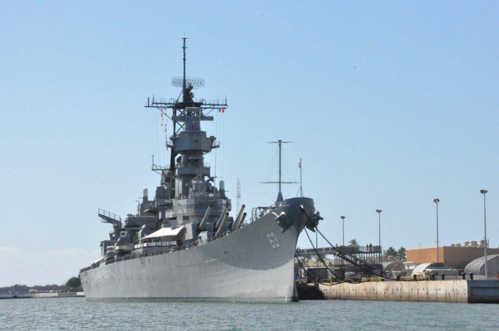 USS Missouri Battleship at Pearl Harbor in Oahu