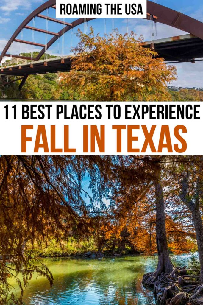 Places to Experience Fall in Texas, Pinterest Graphic