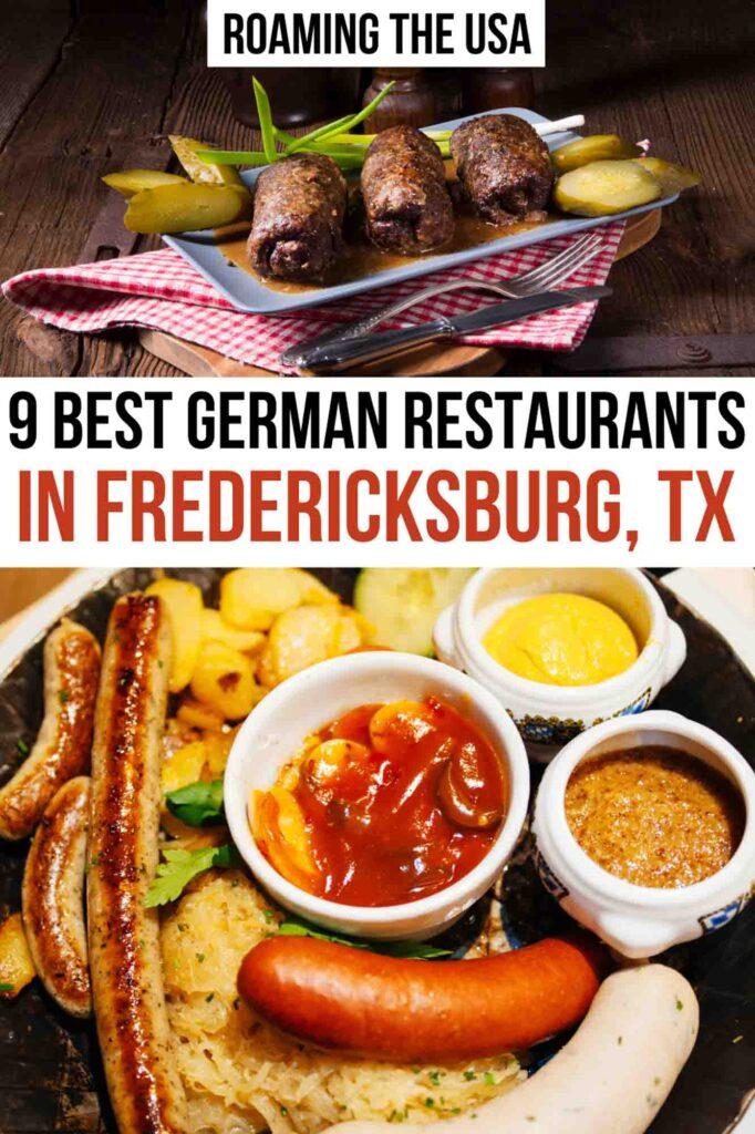 Best German Restaurants in Fredericksburg, TX, Pinterest Graphic