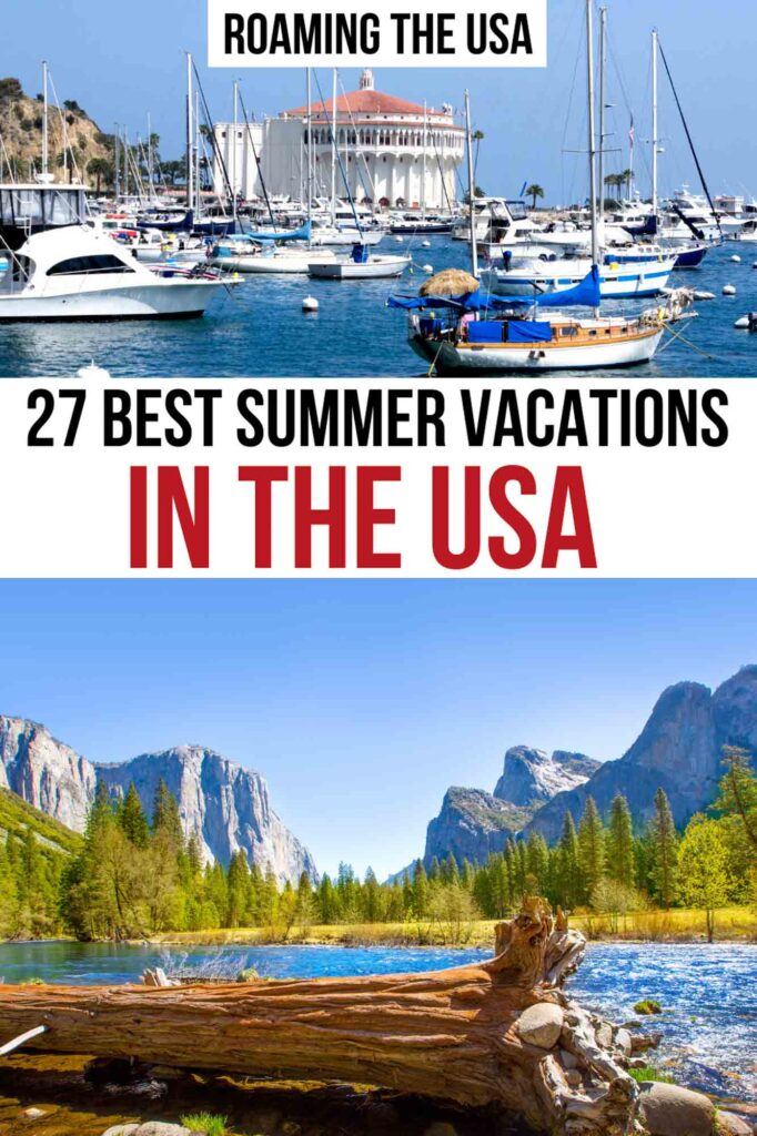 Best Summer Vacations in the USA, Pinterest Graphic