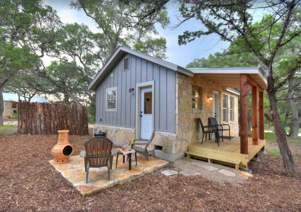 This Delightful Stone Cabin is one of the best cabins in Wimberley, Texas