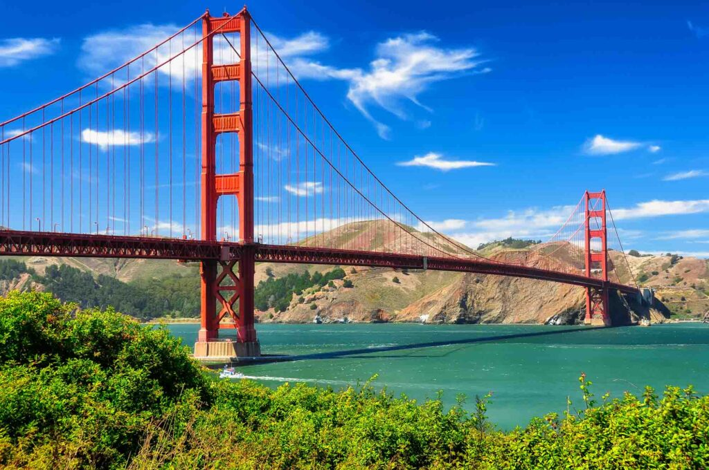San Francisco, California is one of the most romantic getaways in the United States