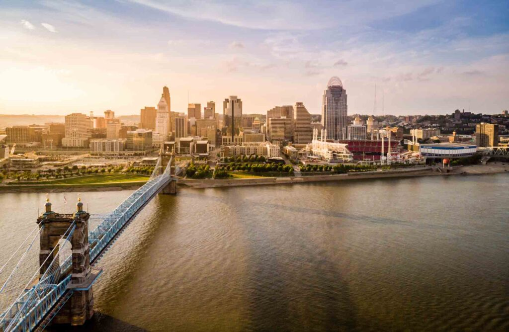 Cincinnati, Ohio  is one of the most romantic getaways in the United States for couples