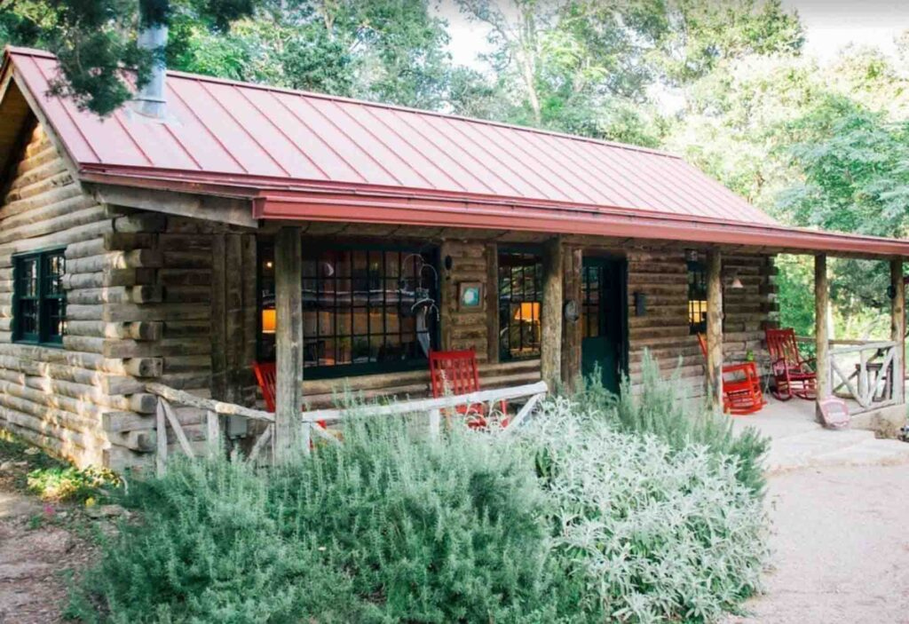 This Moondance log cabin is one of the best cabins in Wimberley, Texas