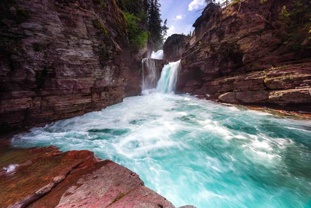 St. Mary and Virginia Falls is one of the best hikes in Glacier National Park