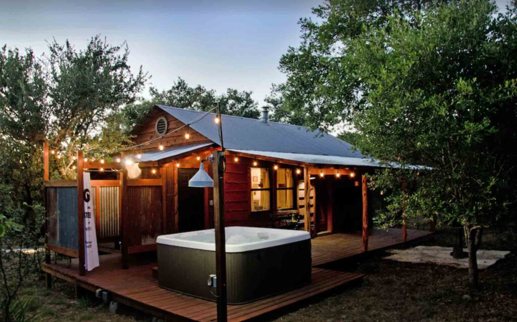 This Moonshiner Cabin is one of the best cabins in Wimberley, Texas