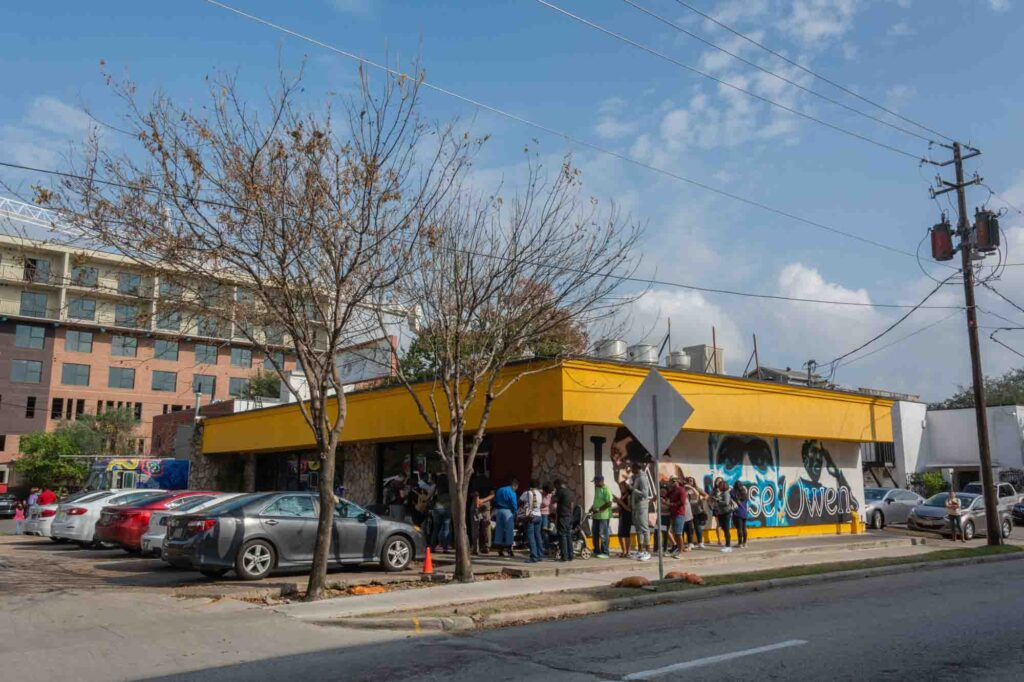 Having breakfast at The Breakfast Klub is the first thing to do on your weekend in Houston itinerary