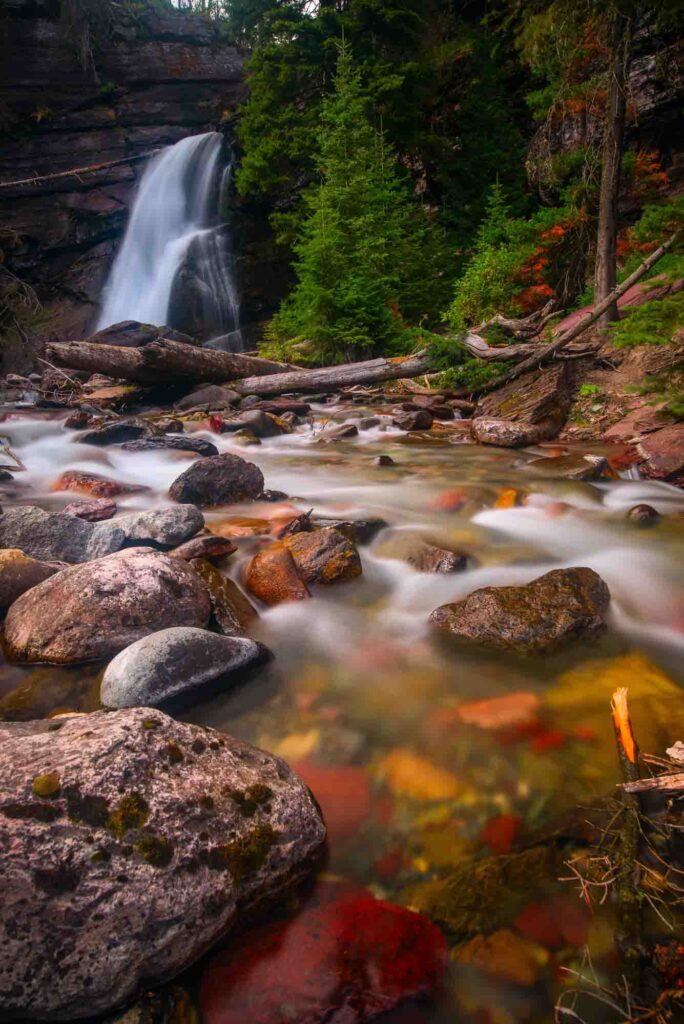 Baring Falls is one of the best hikes in Glacier National Park