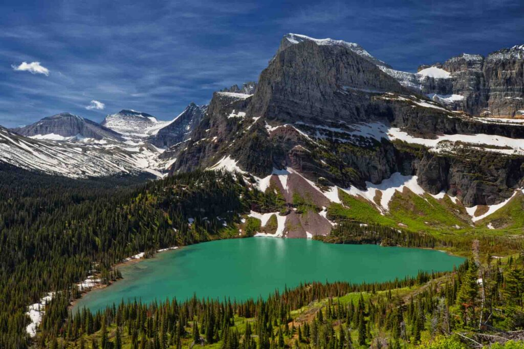 Grinnell Glacier is one of the best hiking trils in Glaciers National Park, Montana