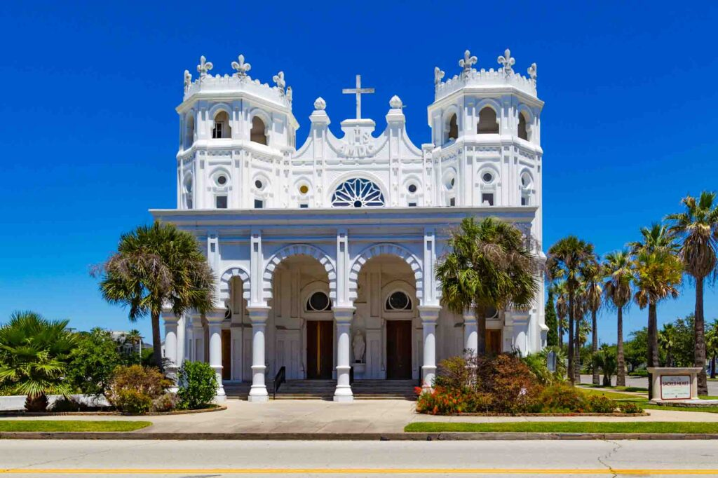 Admiring the architecture of Sacred Heart Church is one of the best things to do in Galveston, TX