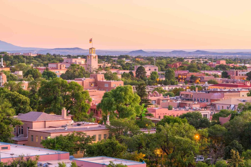 Santa Fe, New Mexico is one of the most romantic getaways in the United States for couples