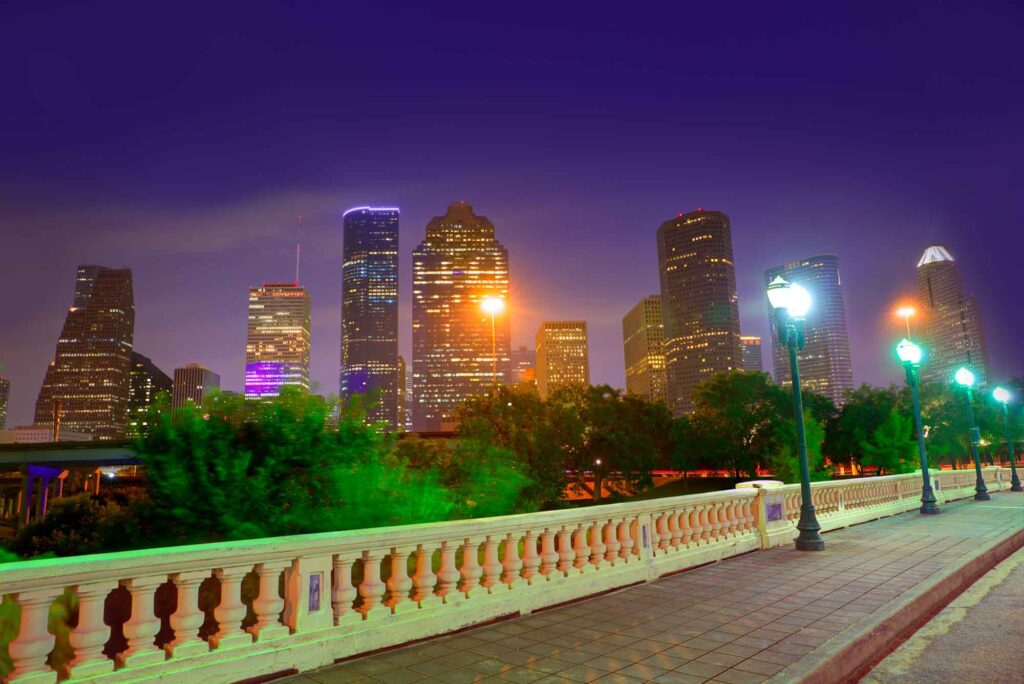 Catching a sunset at Sabine Street Bridge is one of the things to do on a weekend in Houston