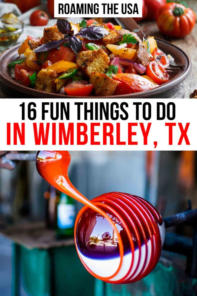 Fun Things to do in Wimberley, TX Pinterest Graphic