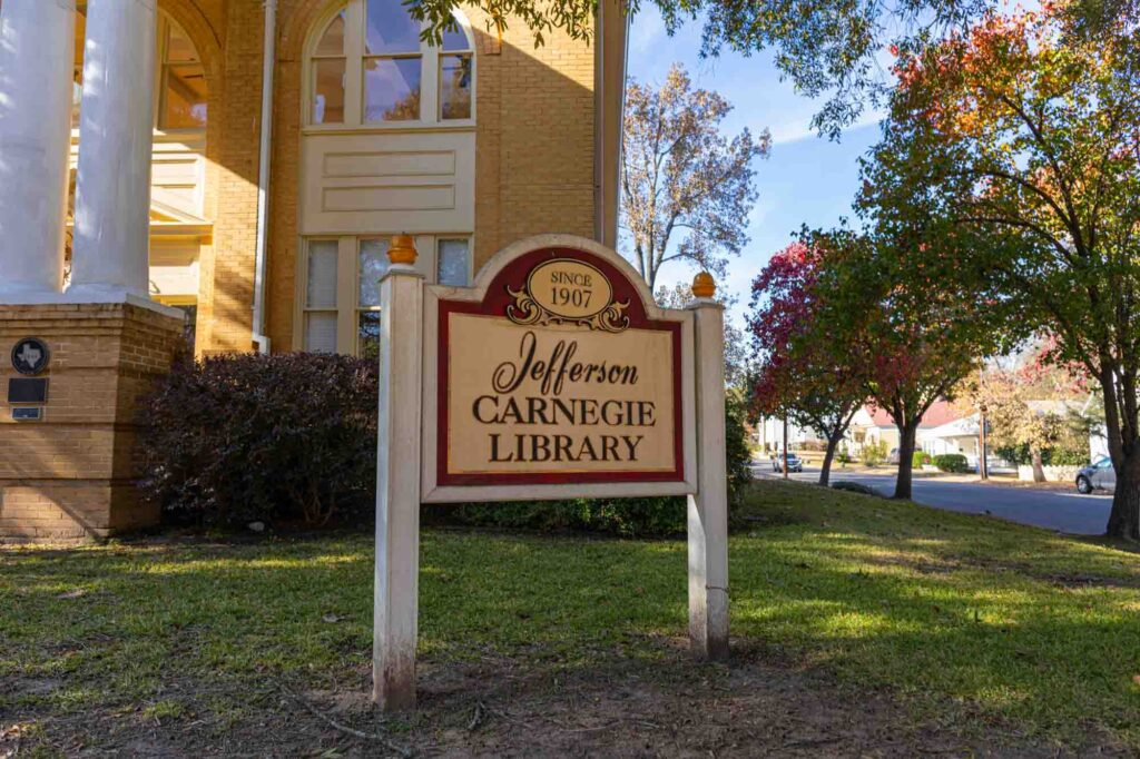 Exploring Carnegie Library is one of the interesting things to do in Jefferson, TX