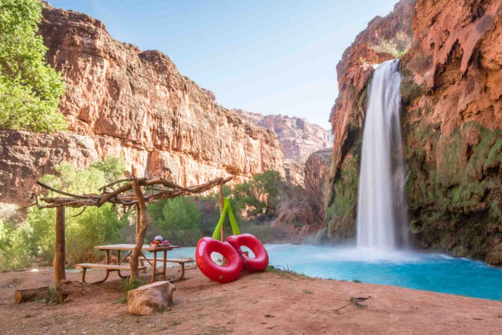Havasu Falls is one of the  places to visit in the US