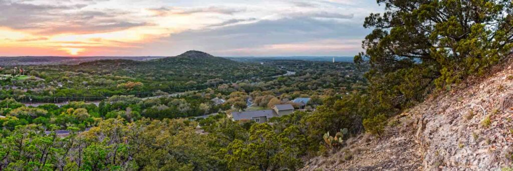 Enjoying the view of Wimberley from Old Baldy is one of the best things to do in Wimberley, TX