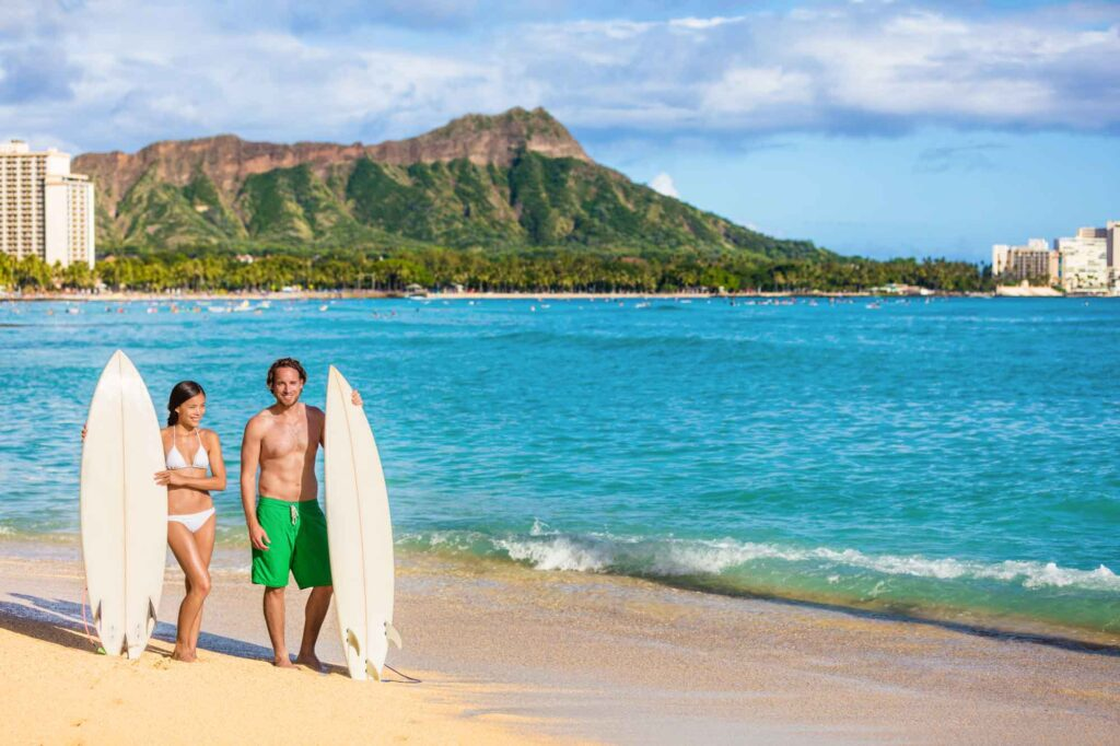 Waikiki Beach is one of the places to add to your USA bucket list